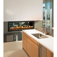 Gas Fireplace - Custom Commercial - 4ft Modern See Through image