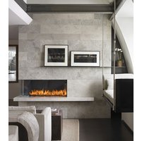 Gas Fireplace - Custom Commercial - 4ft Modern Corner image