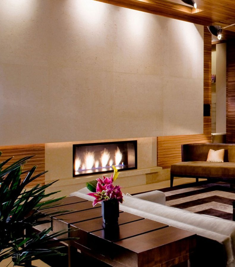 Gas Fireplace - Custom Commercial - 3ft Modern Single Sided