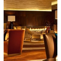Gas Fireplace - Custom Commercial - 14ft Modern Corner image