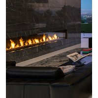 Gas Fireplace - Custom Commercial - 14ft Modern Single Sided image