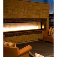 Gas Fireplace - Custom Commercial - 12ft Modern See Through image