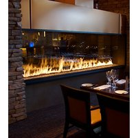 Gas Fireplace - Custom Commercial - 11ft Modern See Through image