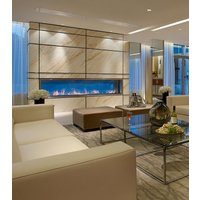 Gas Fireplace - Custom Commercial - 10ft Modern Indoor/Outdoor image