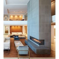 Gas Fireplace - Custom Commercial - 11ft Modern Corner image