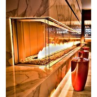 Gas Fireplace - Custom Commercial - 10ft Modern Bay image