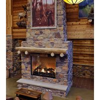 Gas Fireplace - Custom Commercial - 7ft Classic Traditional Single Sided image