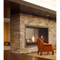 Gas Fireplace - Custom Commercial - 7ft Classic Traditional See Through image