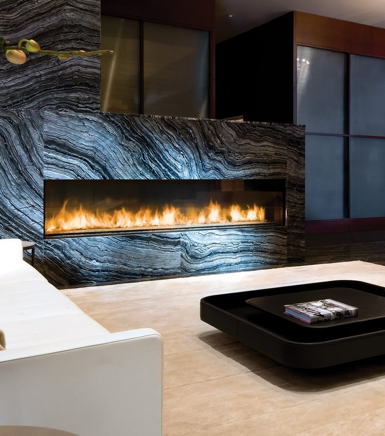 Gas Fireplace - Custom Commercial - 10ft Modern Single Sided