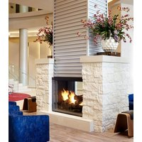 Gas Fireplace - Custom Commercial - 4ft Classic Traditional See Through image
