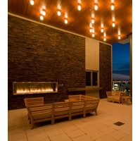 Gas Fireplace - Custom Commercial - 3ft Modern Outdoor image