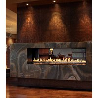 Gas Fireplace - Luxury Residential - 6ft Modern See Through image