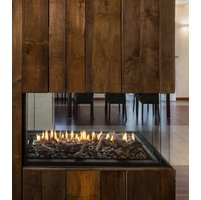Gas Fireplace - Luxury Residential - 4ft Modern Pier image