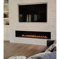 Gas Fireplace - Luxury Residential - 8ft Modern Single Sided image