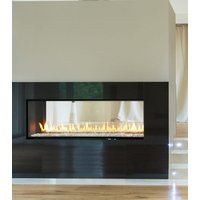Gas Fireplace - Luxury Residential - 4ft Modern See Through image