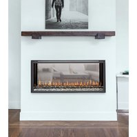 Gas Fireplace - Luxury Residential - 3ft Modern See Through image
