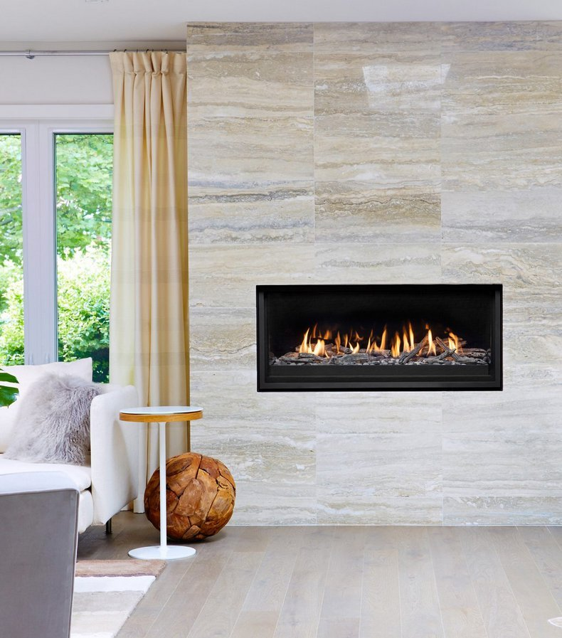 "Gas Fireplace - Residential - 52"" Modern Single Sided"