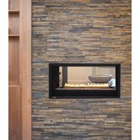 "Gas Fireplace - Residential - 38"" Modern See Through image"