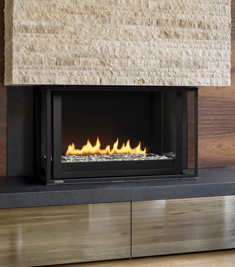 "Gas Fireplace - Residential - 38"" Modern Bay"
