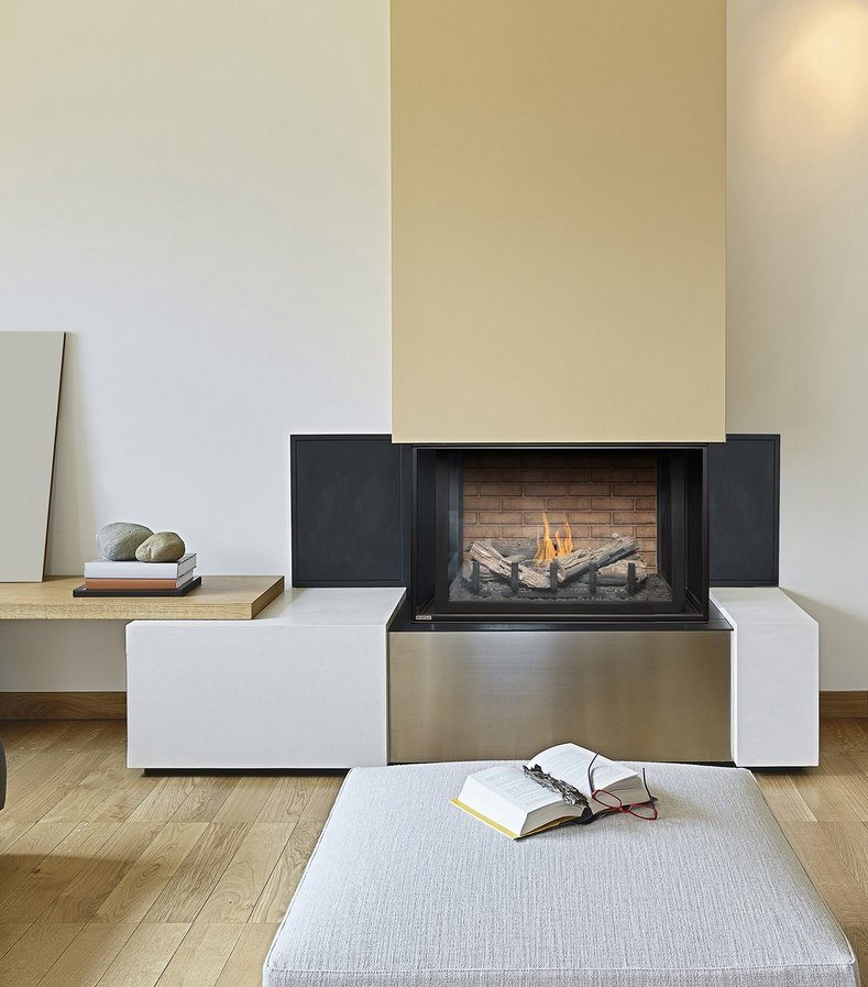 "Gas Fireplace - Residential - 38"" Classic Traditional Bay"