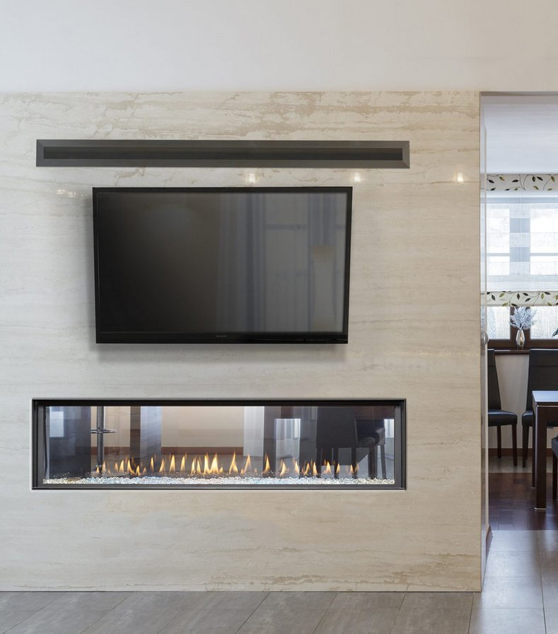 "Gas Fireplace - Luxury Residential - 63"" Modern See Through"