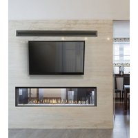 "Gas Fireplace - Luxury Residential - 63"" Modern See Through image"