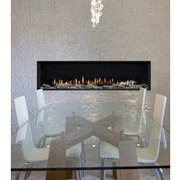 "Gas Fireplace - Luxury Residential - 63"" Modern Single Sided image"