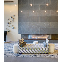 Gas Fireplace - Custom Commercial - 6ft Modern Bay image