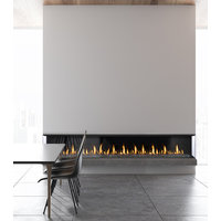 Gas Fireplace - Light Commercial - 7ft Modern Bay image