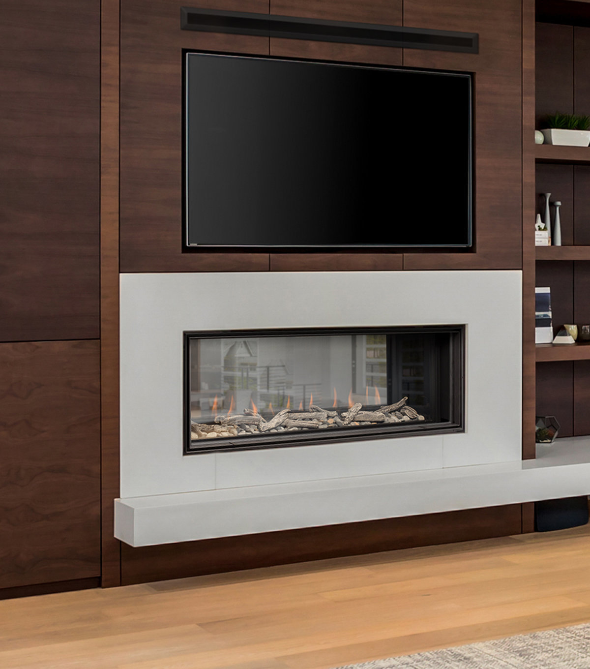 "Gas Fireplace - Luxury Residential - 48"" Modern See Through"