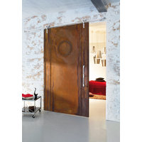 Modern Top Mounted Barn Door Hardware image