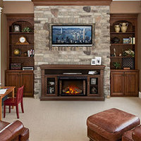 Electric Fireplace Mantel Package image