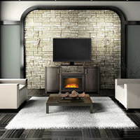 Electric Fireplace Mantle Package image