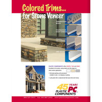 Plastic Components, Inc. image | NEW - Color Trims for Stone Veneers