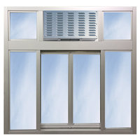 131 Bi-parting Sliding window with Transom or Air Curtain image