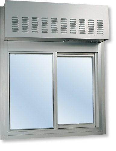 275 Single Panel Slider with Transom or Air Curtain