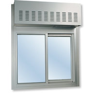 275 Single Panel Slider with Transom or Air Curtain image