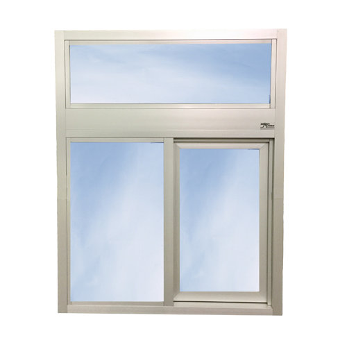 600 Single Panel Slider with Transom or Air Curtain
