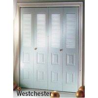 Slimfold® Westchester Steel Bifold Closet Door image
