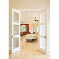 Slimfold® Alterra Collection Solid Wood Frosted Glass Doors image