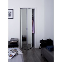 "Sliding Bifold Door with 1"" Beveled Edge Mirror & Slimline Frame image"
