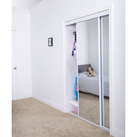 Sliding Bypass Door with Mirror Insert & Narrow Stile image