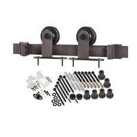 Top of Door Flat Track Barn Door Hardware Kit image