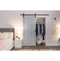 Herringbone Barn Door with Easy Glide Soft Close image