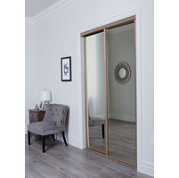 Aurora Premium Sliding Door with Mirror Insert & Slimline Frame image