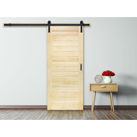 Heritage:  Flair Horizontal Plank Design Barn Door Kit image