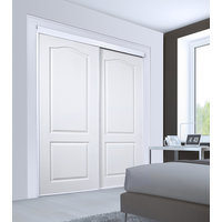 Bypass Closet Doors:  Savona 2 Panel Arched Design image