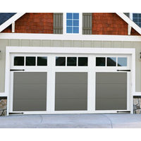 Steel Garage Door with Composite Overlay image