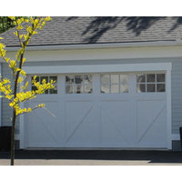 Carriage House Steel Garage Doors with Overlays image