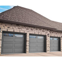 Woodgrain Panel Steel Garage Door image